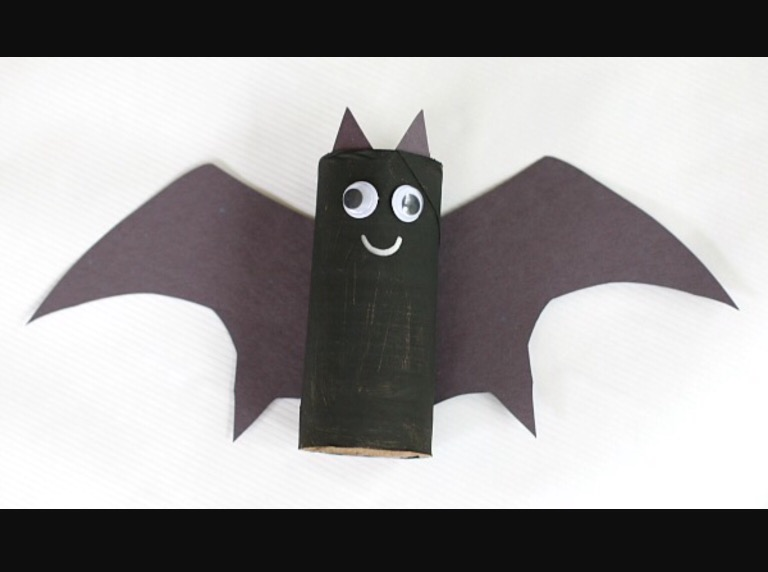 Easy 5 Step Toilet Paper Roll Bat Perfect For Halloween Crafty Dojo