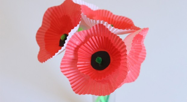 Remembrance Day kids craft - Poppies
