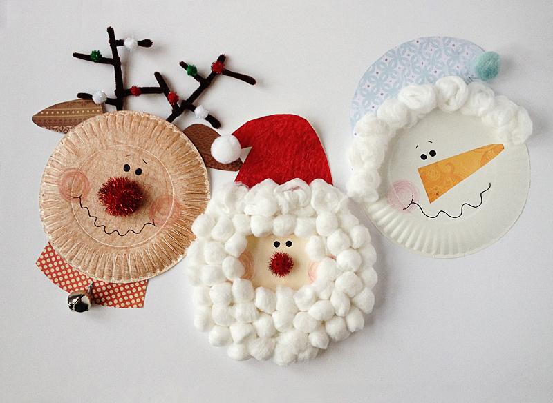 Rudolph, Santa and Snowman crafts