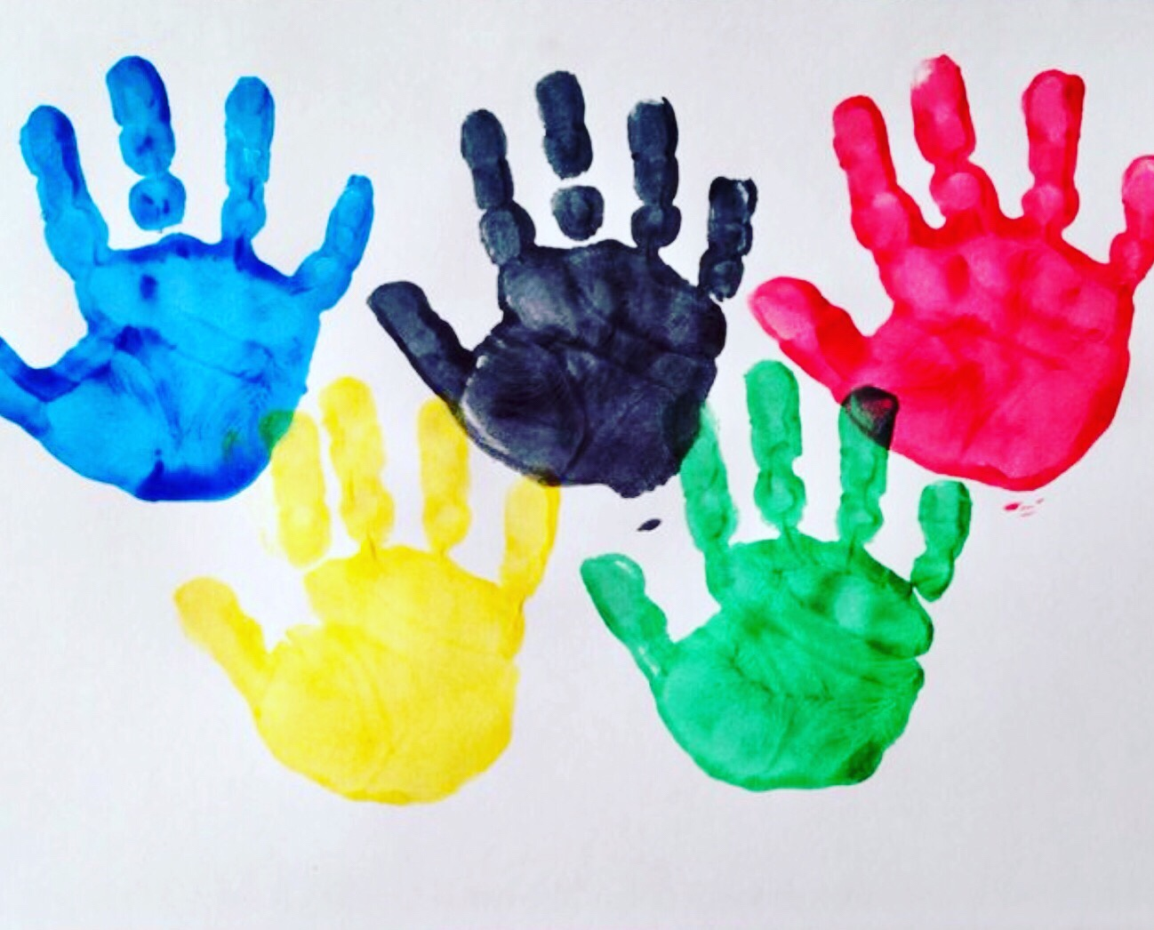 Olympic Rings handprint craft
