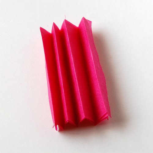 Tissue paper flower fold